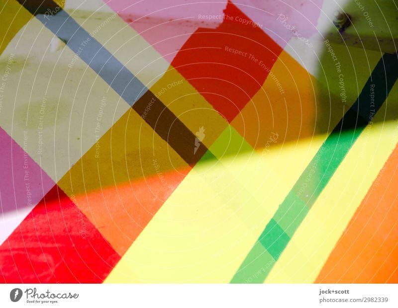 streifen & streichen Stil Grafik u. Illustration Dekoration & Verzierung Metall Linie Streifen Geometrie Strukturen & Formen eckig einzigartig Wärme Stimmung