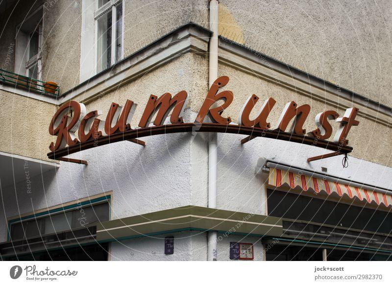 Raumkunst Stil Design Dienstleistungsgewerbe Ladengeschäft Gebäude Fassade Fenster Dekoration & Verzierung Regenrohr Markise Leuchtkasten