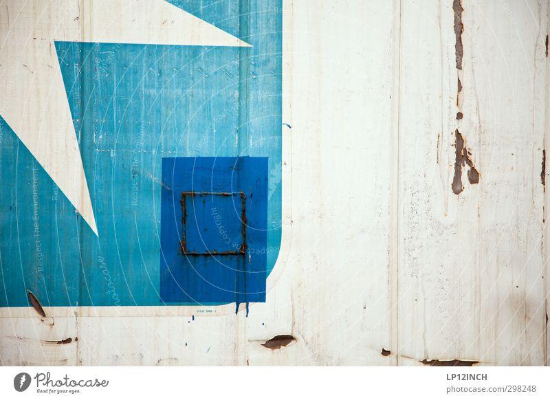 WILHELMSBURG | TWITTER blau alt weiß dreckig Schilder & Markierungen Design retro Industrie Zeichen Kreativität Güterverkehr & Logistik Verfall Rost Stahl