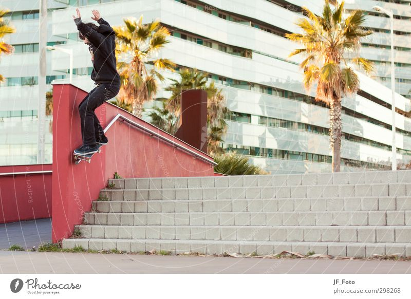 Skateboard Mensch Ferien & Urlaub & Reisen Jugendliche Freude 18-30 Jahre Erwachsene Stil Sport Lifestyle Kunst springen maskulin Freizeit & Hobby Fitness