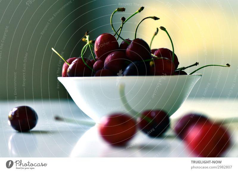 Kirschen... Lebensmittel Frucht Ernährung Bioprodukte Vegetarische Ernährung Schalen & Schüsseln Lifestyle Freude Gesunde Ernährung Sinnesorgane Sommer Sonne