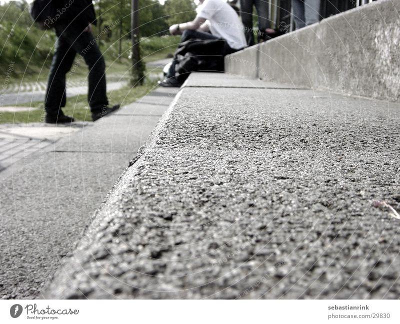stairway to school Mensch Schule Beine gehen sitzen Treppe Bildung