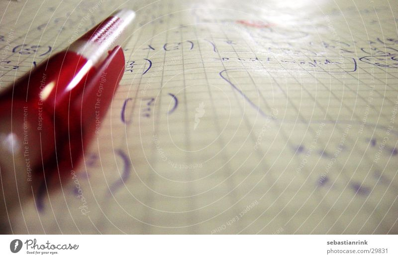 ziffernblatt Schreibstift Mathematik Kugelschreiber Blatt Papier Schulunterricht Ziffern & Zahlen vektor Schule