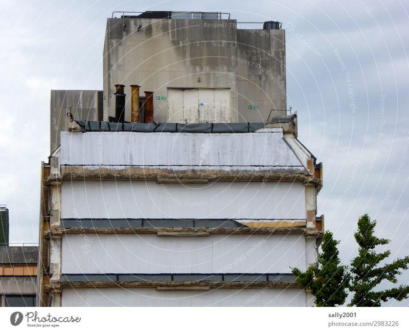 Nachbarschaften I weggezogen und abgerissen... Haus Gebäude Abriss Ruine Architektur Demontage Zerstörung Vergänglichkeit kaputt Abrissgebäude Bauwerk