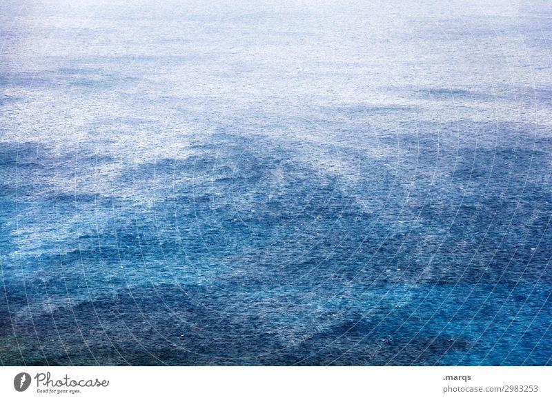 Ozean Vogelperspektive Meer blau Strukturen & Formen Wellengang Natur Naturgewalt Hintergrundbild weite