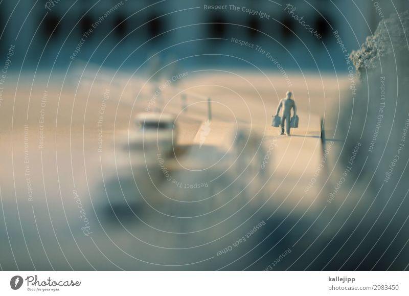 tod eines handlungsreisenden Mensch Ferien & Urlaub & Reisen Stadt Reisefotografie Straße Wege & Pfade klein Tourismus grau Arbeit & Erwerbstätigkeit PKW