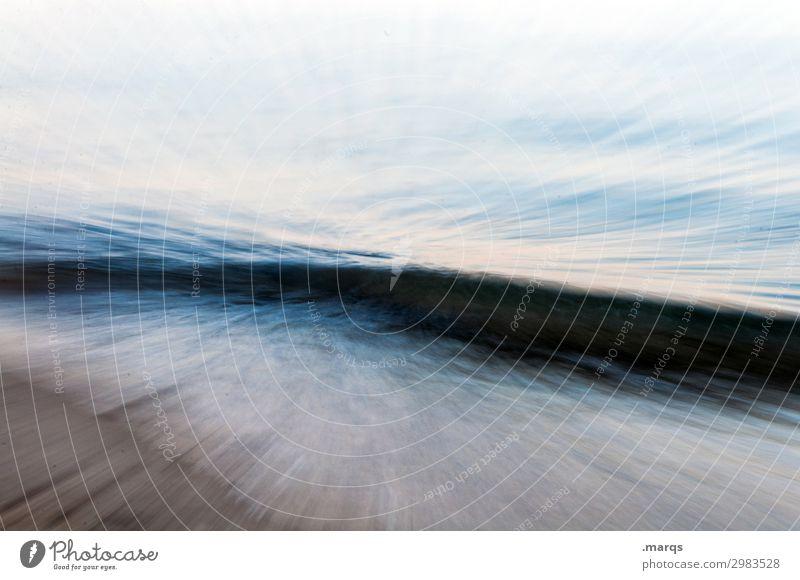 Bewegungsunscharfe Welle Meer Wasser Strand Bewegungsunschärfe Experiment abstrakt Perspektive urelemente natur naturgewalt klima Unschärfe Langzeitbelichtung