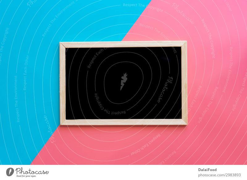 Zwei Farben Blau und Pink Stil Design Tapete Kunst Mode Papier Linie trendy modern blau rosa rot Kreativität Hintergrund blanko Postkarte farbenfroh Element