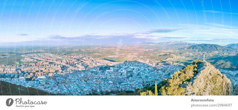 Jaen Stadtbild Ferien & Urlaub & Reisen Berge u. Gebirge Landschaft Kirche Burg oder Schloss Gebäude Architektur Fluggerät Natur Andalusien Andalusia