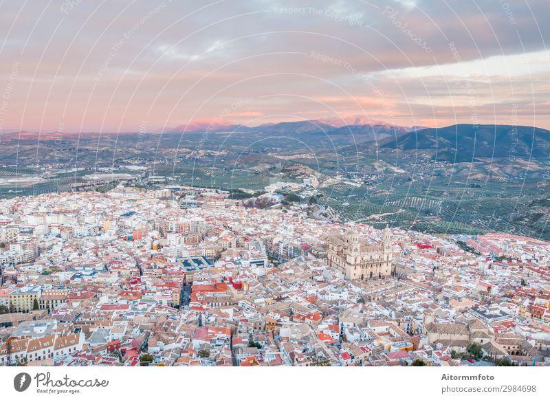 Kathedrale in Jaen Ferien & Urlaub & Reisen Landschaft Himmel Kirche Burg oder Schloss Gebäude Architektur Fluggerät oben Religion & Glaube Andalusien Andalusia