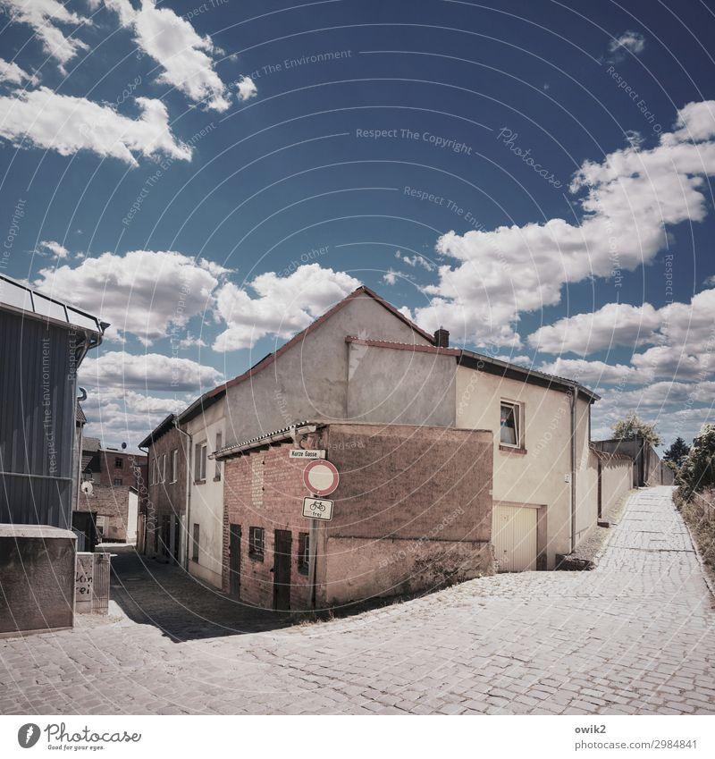 Malchow, Mecklenburg Himmel Haus Wolken Fenster Wand klein Mauer Fassade Tür Dach Altstadt Stadtzentrum Kopfsteinpflaster gemütlich Mecklenburg-Vorpommern