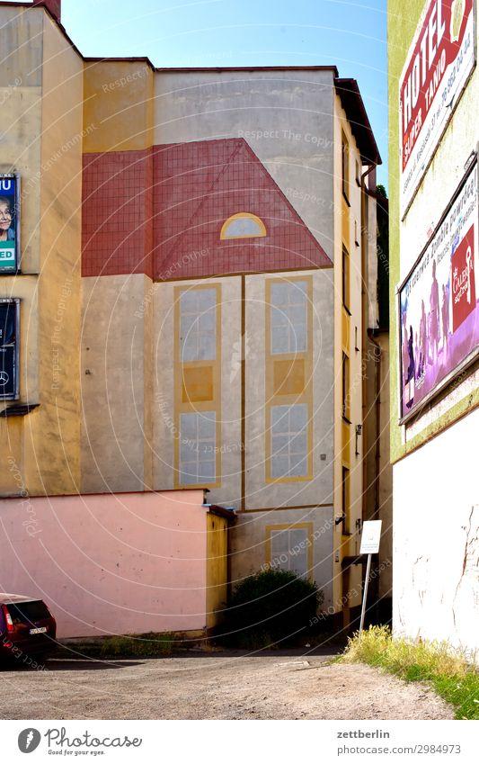 Haus auf Haus alt Altstadt antik legnica malerisch gemalt Polen Schlesien Stadt verfallen Wohnhaus Bild Wandmalereien Grafik u. Illustration Gemälde