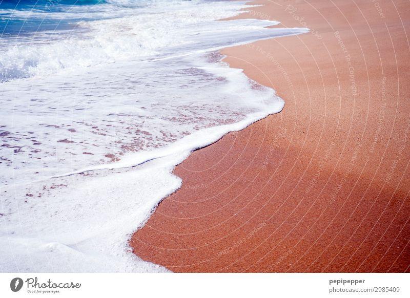 wave Ferien & Urlaub & Reisen Tourismus Ferne Sommerurlaub Sonnenbad Strand Meer Wellen Wasser Küste Bucht Insel Sand Schwimmen & Baden Bewegung blau rot weiß