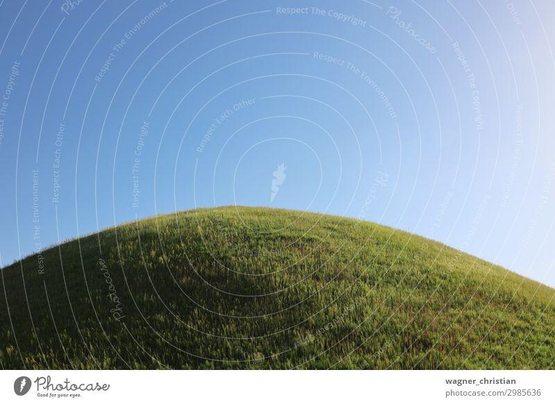 Grabhügel Himmel Natur Sommer Pflanze blau grün Landschaft Erholung ruhig Frühling Wiese Park Erde elegant Ordnung Schönes Wetter