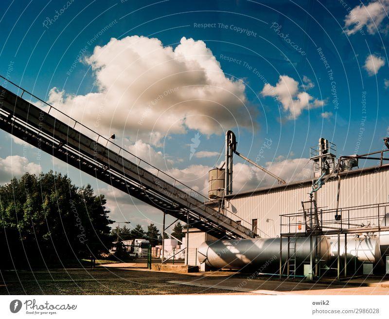 Außer Betrieb Arbeitsplatz Fabrik Wirtschaft Landwirtschaft Forstwirtschaft Industrie Güterverkehr & Logistik Himmel Wolken Schönes Wetter Baum Sträucher