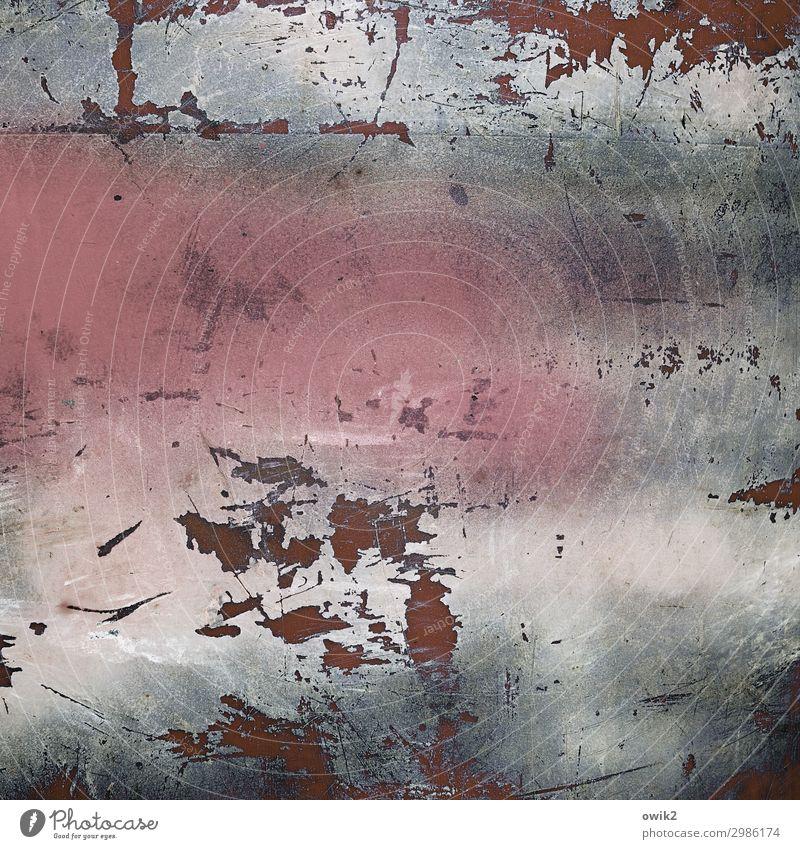 Psychoterror Farbe Kratzer Abrieb Zahn der Zeit Spuren Farbstoff Kunststoff alt trashig Wut Aggression Verfall Zerstörung Farbfoto Außenaufnahme Nahaufnahme