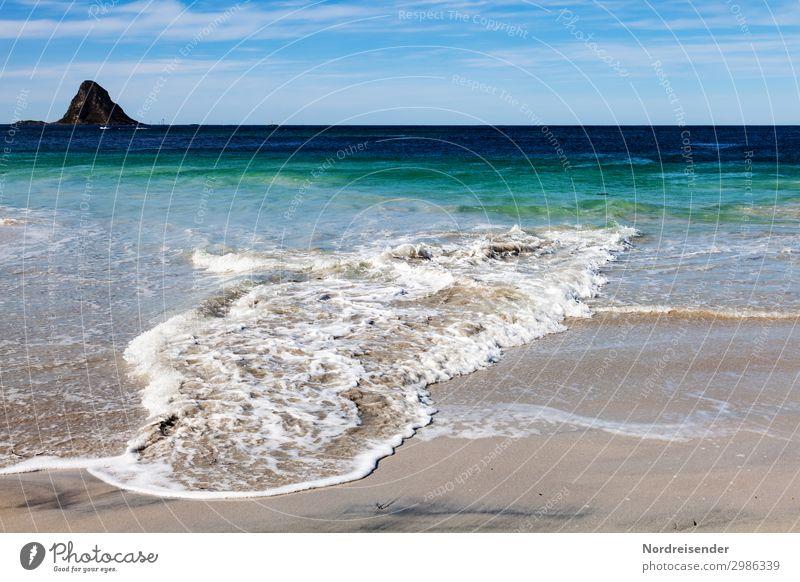 Meeresrauschen Ferien & Urlaub & Reisen Tourismus Strand Natur Landschaft Urelemente Sand Wasser Schönes Wetter Berge u. Gebirge Küste Riff Insel entdecken