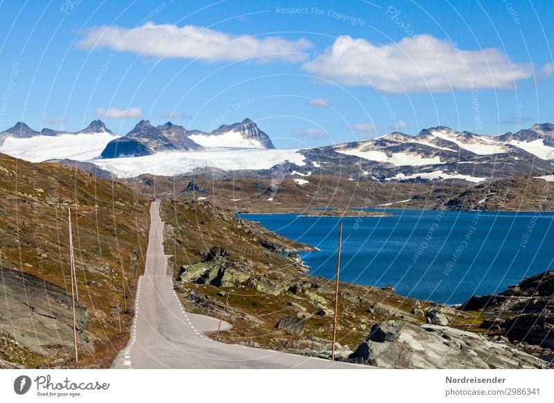 Jotunheimen Ferien & Urlaub & Reisen Tourismus Abenteuer Ferne Freiheit Berge u. Gebirge Landschaft Himmel Wolken Schönes Wetter Felsen Schneebedeckte Gipfel