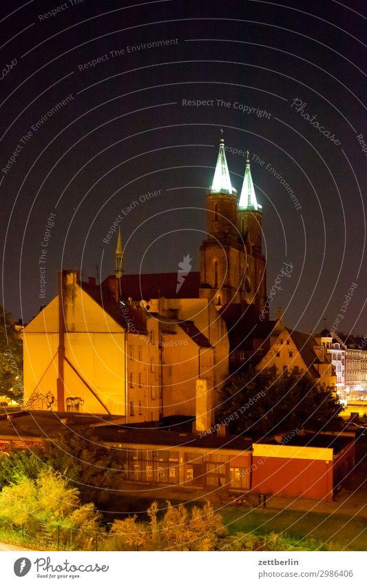 Marienkirche, Legnica (nachts) alt Altstadt antik Haus Religion & Glaube Kirche Kirchturm Christentum Katholizismus legnica malerisch Polen Schlesien Stadt