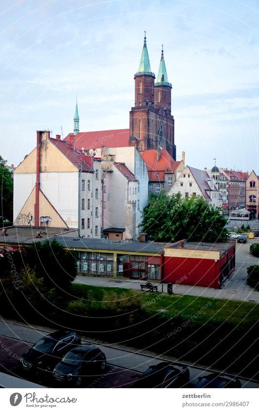 Marienkirche, Legnica (morgens) alt Altstadt antik Haus Religion & Glaube Kirche Kirchturm Christentum Katholizismus legnica malerisch Polen Schlesien Stadt