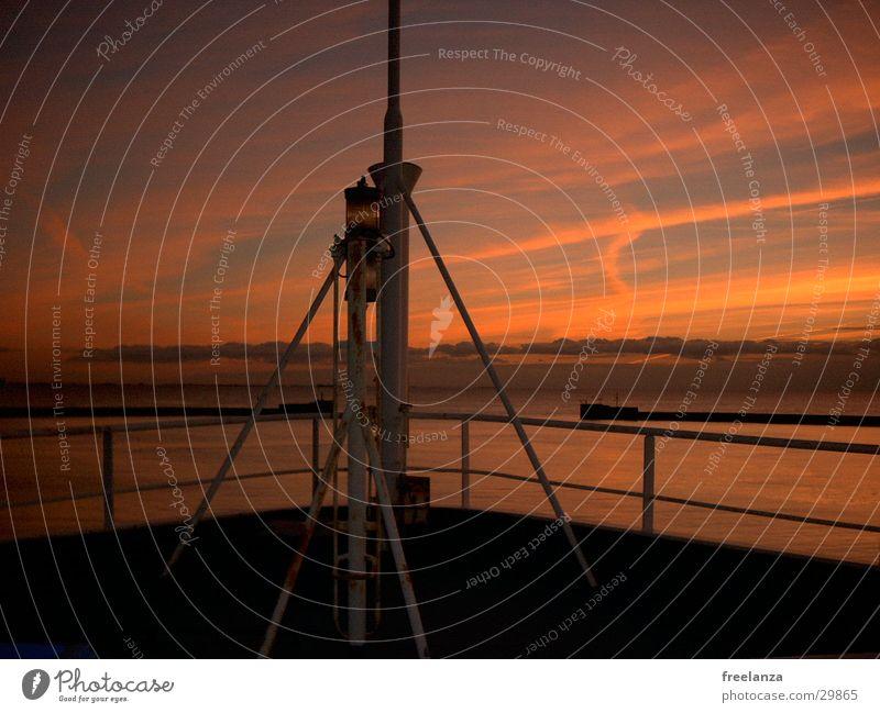 Sonnenuntergang Wasserfahrzeug Ferien & Urlaub & Reisen Romantik Schifffahrt USA Abenddämmerung