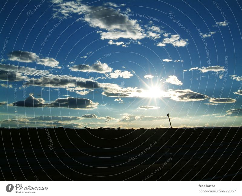 Wolken Sonne blau Ferien & Urlaub & Reisen schwarz Kroatien