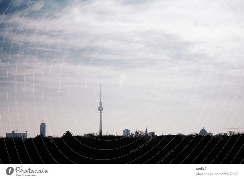 St. Walter Himmel Wolken Horizont Schönes Wetter Berlin-Mitte Berliner Fernsehturm Hauptstadt Stadtzentrum Skyline bevölkert Hochhaus Turm Bauwerk Architektur
