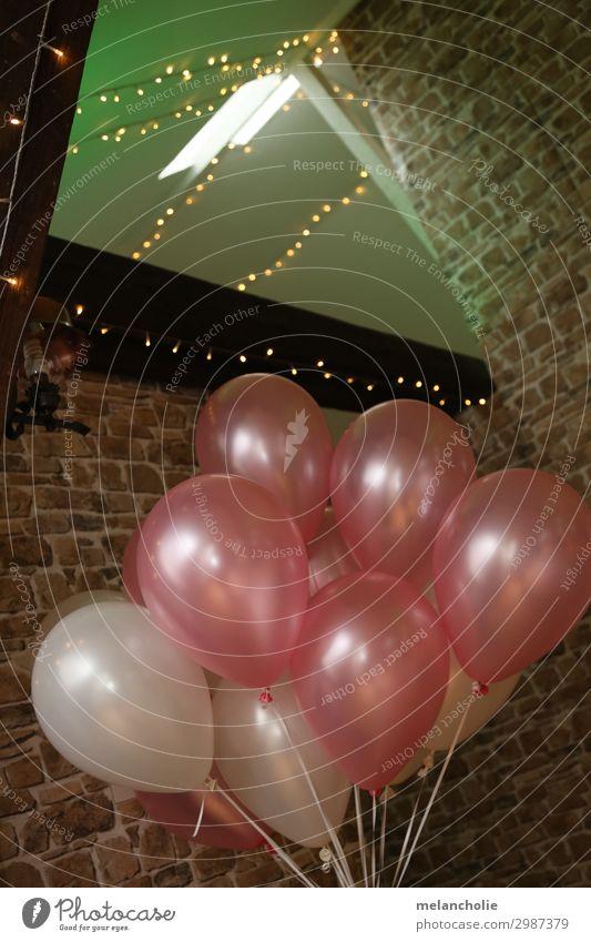 Balloons Party Veranstaltung Restaurant Feste & Feiern Hochzeit Geburtstag Taufe Dekoration & Verzierung Luftballon Tanzen rosa weiß Freundschaft Zusammensein