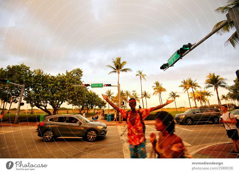 Miami Beach - Ocean Drive Sonne Strand Straße USA trendy Palme