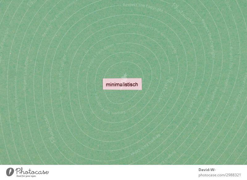 minimalistisch elegant Stil Design Geld sparen lernen Kapitalwirtschaft Geldinstitut Mensch Leben Kunst klein winzig Wortspiel grün Buchstaben Bewusstsein