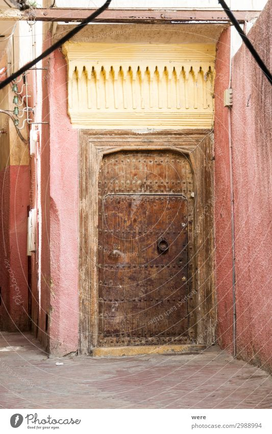 Door in the Medina of Tangier Ferien & Urlaub & Reisen alt Stadt Tourismus Tür Coolness Altstadt Hafenstadt