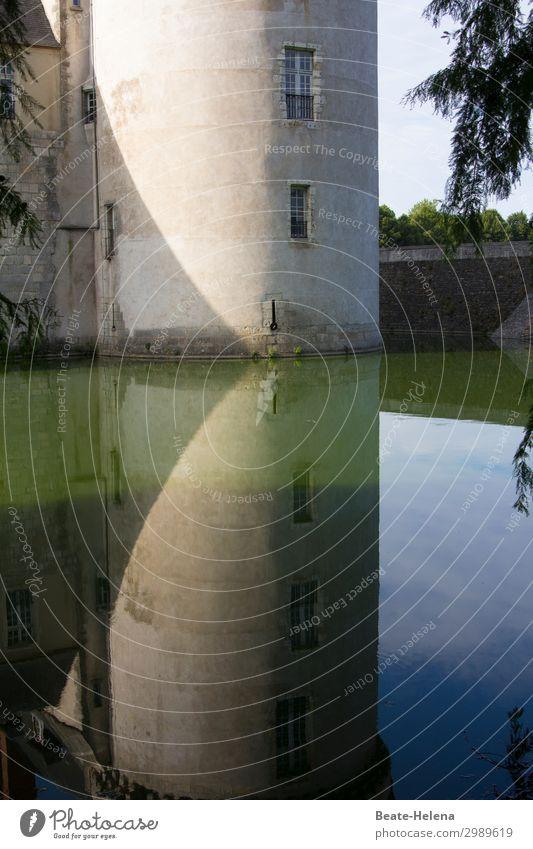An der Loire 2 Ferien & Urlaub & Reisen Ausflug Schloss Schlossturm Schlossgraben Schlosspark Sonnenlicht Park Flussufer Loire-Schlösser Traumhaus Palast