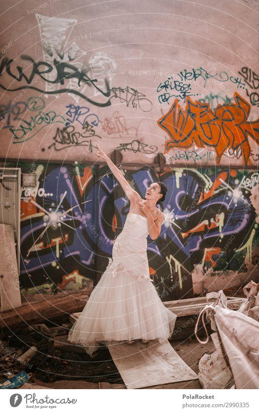 #A# Hochzeits-Location Kunst Kunstwerk ästhetisch Braut Brautkleid Hochzeitszeremonie Frau Wunsch träumen Kontrast abrupt Farbfoto Gedeckte Farben Innenaufnahme