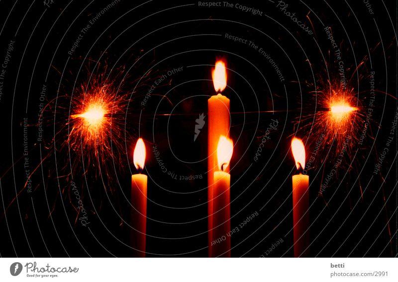 kerzen Kerze Licht brennen Fototechnik Flamme Brand