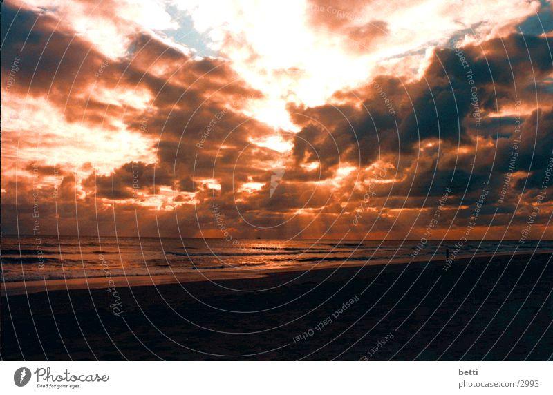 abendstimmung Sonne Meer Strand orange Romantik