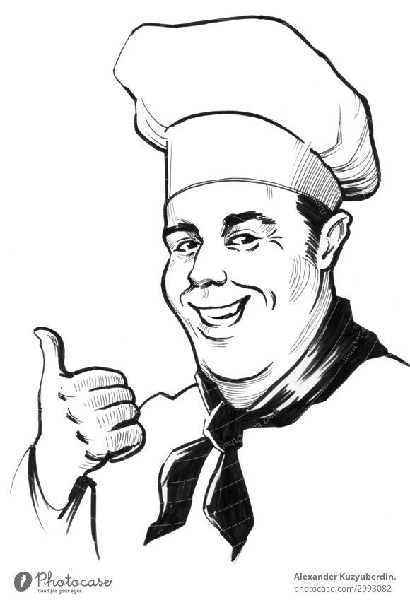 Chefkoch-Charakter Mensch maskulin Mann Erwachsene Vater Kopf Gesicht 1 45-60 Jahre Gefühle Stimmung Fröhlichkeit Begeisterung Euphorie Coolness Senior Energie