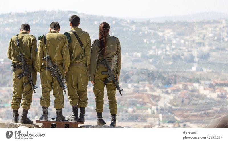 Frieden finden Mensch Junge Frau Jugendliche Junger Mann Familie & Verwandtschaft Freundschaft 4 Menschengruppe 18-30 Jahre Erwachsene Israel Israelis entdecken