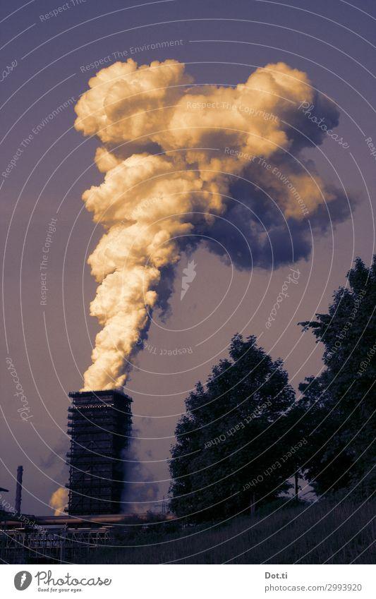 Rauchzeichen und Wunder Industrie Umwelt Himmel Klima Klimawandel Menschenleer Industrieanlage Schornstein Surrealismus Umweltverschmutzung Schwerindustrie