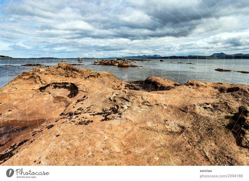 Stein, Wasser, Wolken, Schottland Ferien & Urlaub & Reisen Sommerurlaub Natur Landschaft Klima Klimawandel Schönes Wetter Küste Strand Bucht Laide Ferne