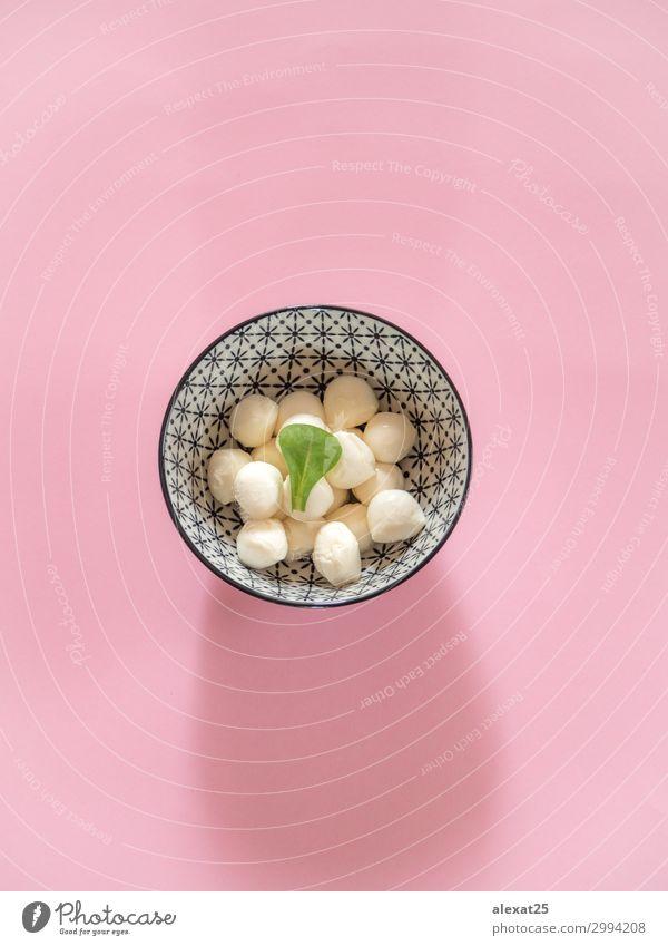 weiß Blatt natürlich klein rosa frisch Aussicht Fotografie lecker Tradition Ball Schalen & Schüsseln Mahlzeit Top Käse Zutaten