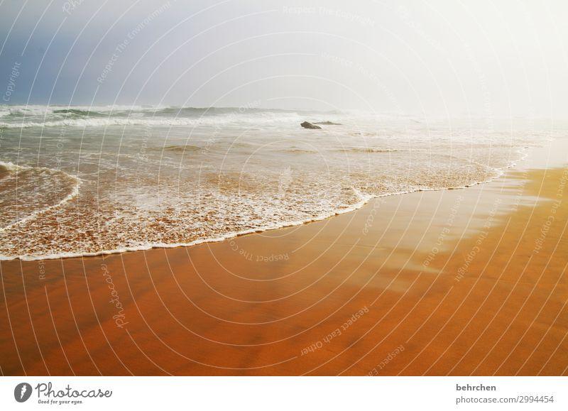 nebulös | die verborgene schönheit Himmel Ferien & Urlaub & Reisen Landschaft Meer Wolken Einsamkeit ruhig Ferne Strand Küste Tourismus außergewöhnlich Freiheit