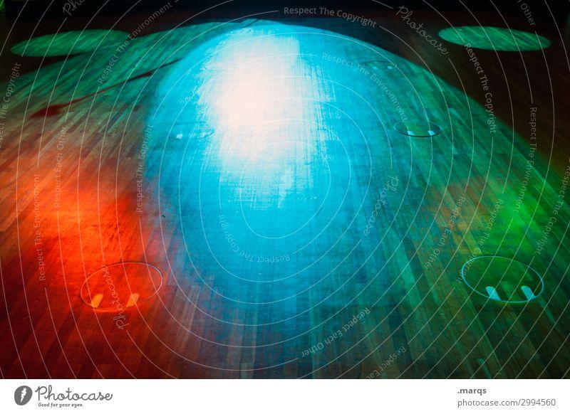 Tanzfläche Veranstaltung Musik clubbing Boden Bühnenbeleuchtung Party Club Scheinwerfer Feste & Feiern Tanzen blau grün rot Freude ausgehen Farbfoto