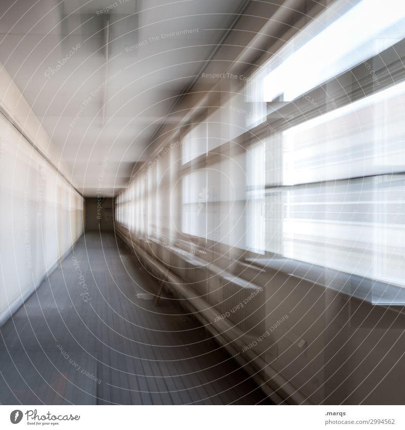Zoom Design Fenster Gang Geschwindigkeit Bewegung Termin & Datum Irritation Wandel & Veränderung Zukunft Farbfoto Innenaufnahme abstrakt Menschenleer