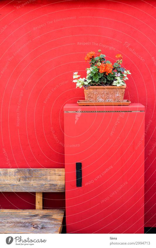 Isolation rot Haus Wand Gebäude Garten Mauer Fassade einzigartig einfach Bauwerk Bank Isolierung (Material) Blumentopf Verteiler Isolatoren
