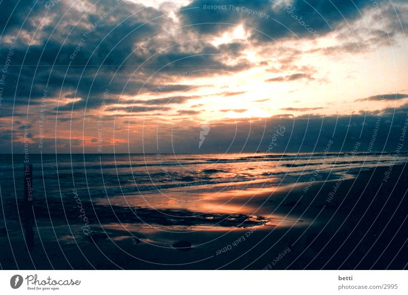 sonnenuntergang 2 Himmel Meer Strand Wolken Sonnenuntergang