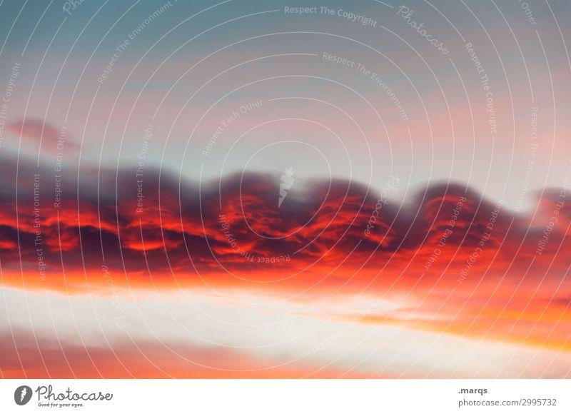 Altocumulus undulatus Natur schön rot Wolken Umwelt außergewöhnlich Stimmung Wetter Luft Urelemente nur Himmel