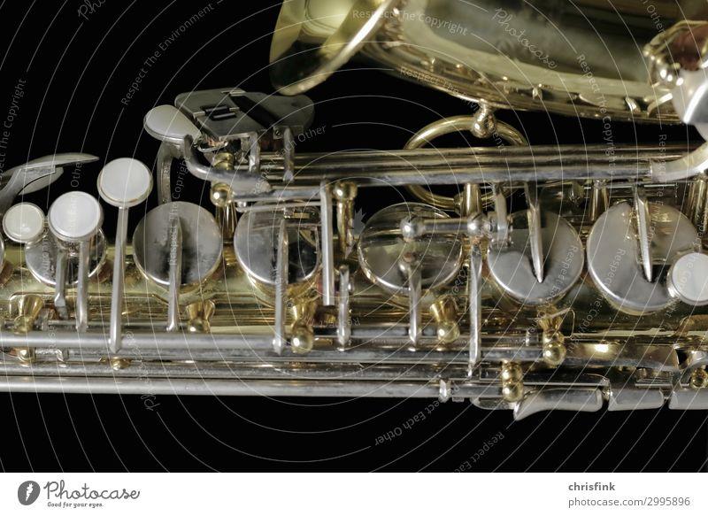 Saxophon Kunst Musik Bühne Orchester ästhetisch elegant Leidenschaft Sex Sexualität Ton Klappe Blasinstrumente Blech Messing Farbfoto Gedeckte Farben