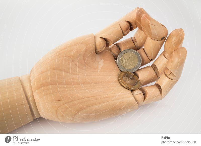 Hand Holz Glück Business braun Häusliches Leben Dekoration & Verzierung Erfolg Finger Geld Sicherheit Geldinstitut Wirtschaft Karriere fangen Skulptur