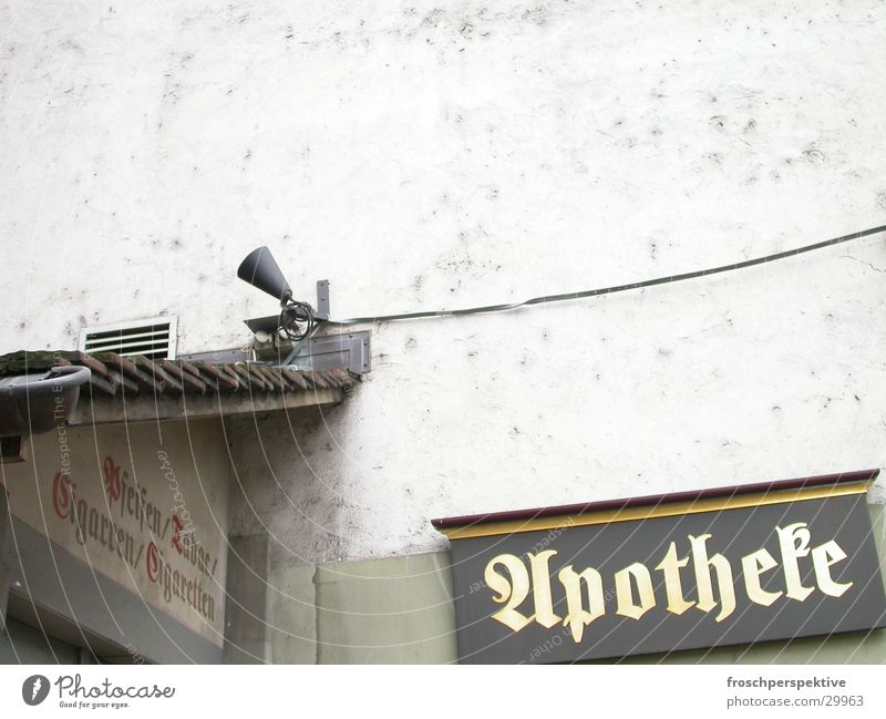 altstadt Apotheke Tabakwaren Schilder & Markierungen antik Europa Kanton Bern Altstadt