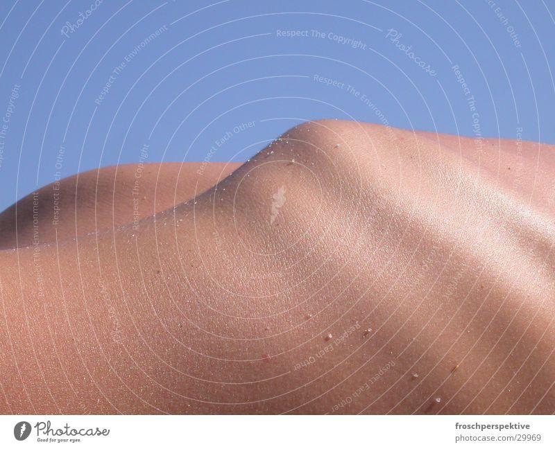sixpack Mensch Haut Sonnenbad Rippen Skelett Sonnencreme Brustkorb